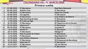 Calendario La Liga 2019.El Calendario De Laliga Completo Del Fc Barcelona
