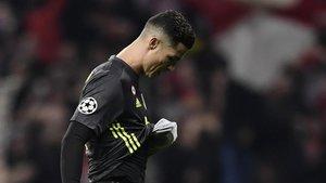 Cristiano Ronaldo deprimido tras la derrota