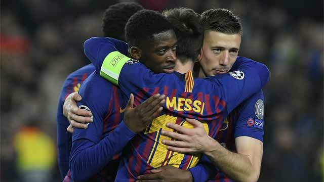 Dembélé aprovechó sus minutos marcando el quinto ante el Lyon