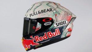 El diseño del casco que estrenará Marc en Montmeló