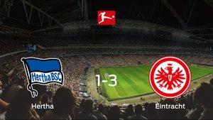 El Eintracht Frankfurt vence 1-3 en el feudo del Hertha BSC