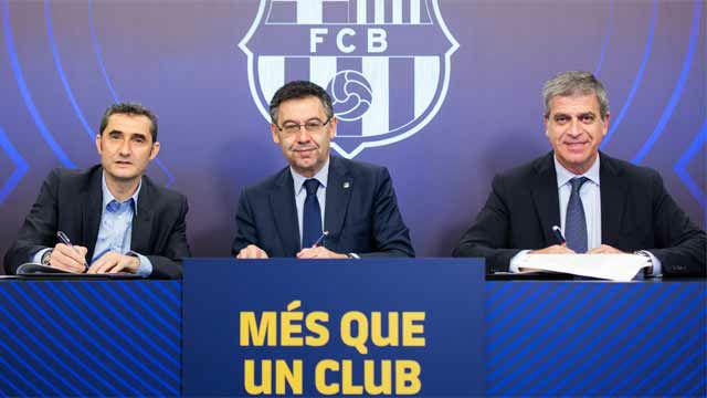 Ernesto Valverde firmó su renovación hasta el 2020