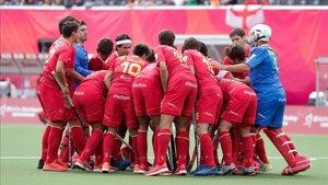 España celebra un gol ante Inglaterra