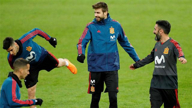 España prepara en Düsseldorf el partido contra Alemania