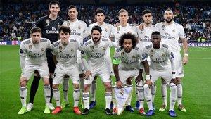 Este fue el once inicial del Real Madrid