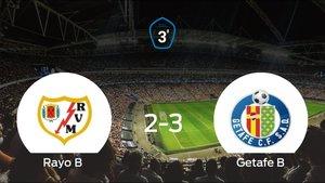 El Getafe B se lleva la victoria tras vencer 2-3 al Rayo B