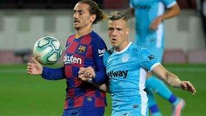 Griezmann fue lo más peligroso del Barça