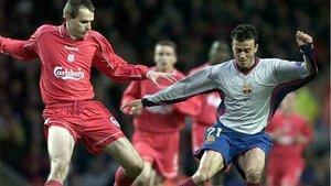 Hamman, en un pasado duelo entre el Liverpool y el Barça