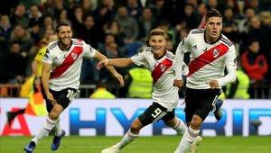 Juanfer Quintero anotó ese valioso 2-1 en la final de la Copa Libertadores 2018