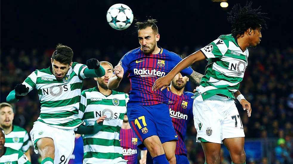 LACHAMPIONS | FC Barcelona - Sporting (2-0): El gol de Alcácer