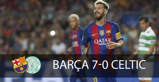 Las mejores imágenes del Barcelona - Celtic (7-0)