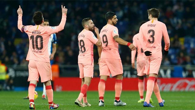 Las notas de los jugadores del Barça ante el Espanyol