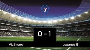 El Leganés B vence por 0-1 al Vicálvaro