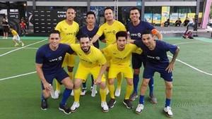 Los azulgranas y el genio brasileño participaron en Bangkok en un acto de la La Liga y la LNFS