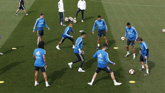 El Madrid entrenó con la mente puesta en Leganés