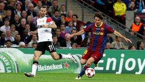 El Manchester United sufrió a Messi en la final de 2011