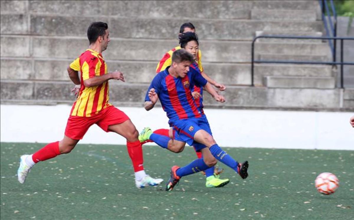 Doblete de Marc Cardona para el FC Barcelona B en la Copa Catalunya