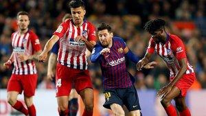 Messi, ante el Atlético