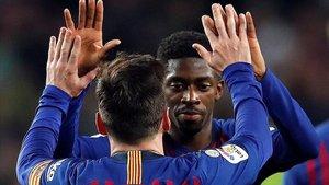 Messi y Dembélé marcaron