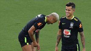 Ney y Coutinho, en la seleçao