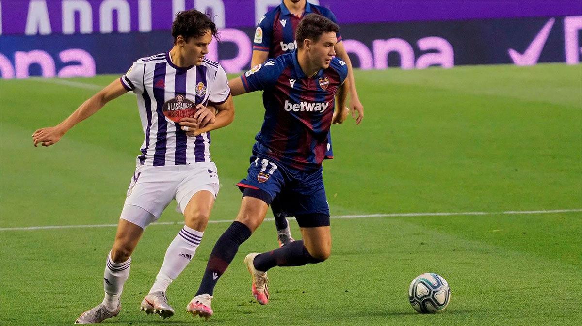 Partido sin goles entre el Valladolid y el Levante