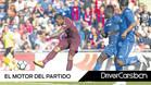 Paulinho dispara para lograr el 1-2 del triunfo del Barça sobre el Getafe