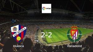 Real Valladolid drop points against Huesca: 2-2 at El Alcoraz