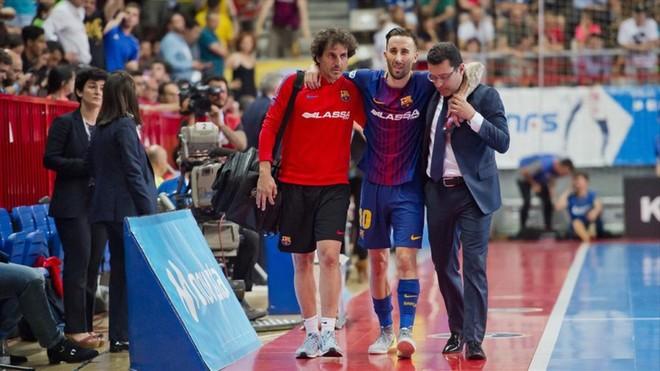 El doloroso parte médico del Barça Lassa tras perder la final de Liga