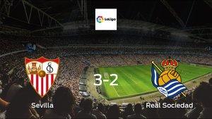 Sevilla cruise to a 3-2 victory over Real Sociedad at Ramón Sánchez Pizjuán