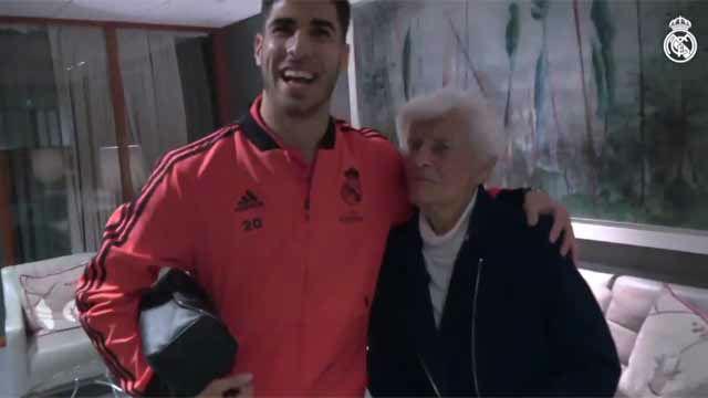 La tierna despedida de Marco Asensio con su abuela materna