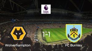 El Wolverhampton Wanderers empata ante el Burnley (1-1)