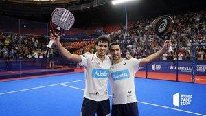Ale Galán y Pablo Lima celebran su primer título juntos