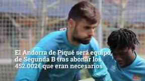 El Andorra de Piqué jugará en Segunda B