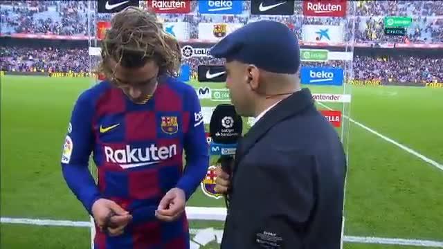 Antoine Griezmann habló tras el partido ante el Getafe