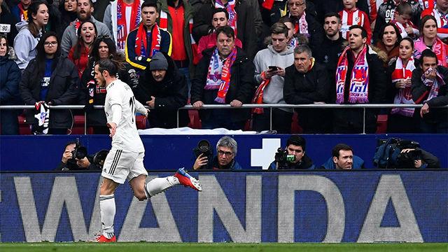 Bale sentenció el partido y se lo dedicó a la grada del Wanda