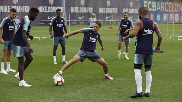 El Barça prepara el partido en Anoeta
