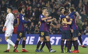 FC Barcelona, 3 - Cultural Leonesa, 0