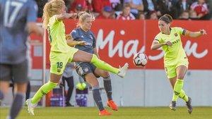 La capitana Vicky Losada durante el partido jugado ante el Bayern