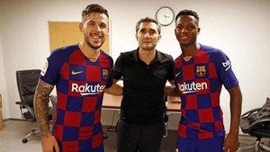 Carles Pérez y Ansu Fati tienen la confianza de Valverde