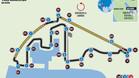 El circuito de Yas Marina del GP de Abu Dhabi de F1