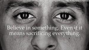 Coepernick, en el mensaje que lanza en el anuncio de Nike