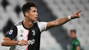 Cristiano marcó dos goles contra la Atalanta y la Lazio