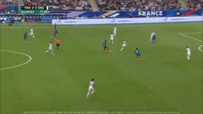 Dembélé marcó uno de los tres goles de Francia ante Inglaterra