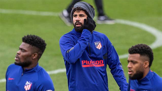Diego Costa se entrena a fondo y apunta al Liverpool