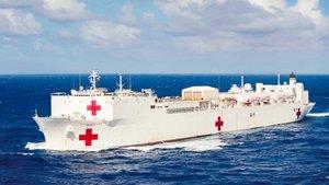 Estados Unidos utiliza ya sus dos navíos hospital para luchar contra el Covid-19