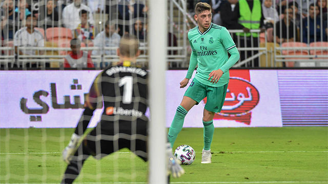 Fede Valverde realizó un buen partido en la Supercopa ante el Valencia