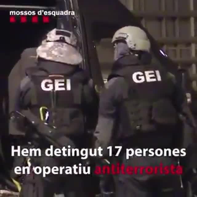 Finaliza el dispositivo antiterrorista de los Mossos con 18 detenidos
