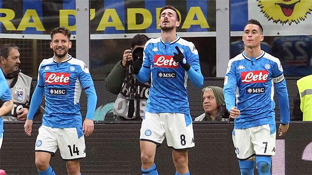 El golazo de Fabián Ruiz ante el Inter que acerca al Nápoles a la final de la Coppa