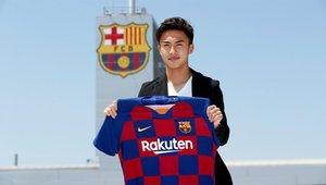 Hiroke Abe ha llegado al FC Barcelona a cambio de 1,1 millones y fima por 4 temporadas