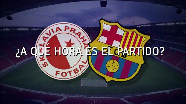 El horario mundial del Slavia Praga - FC Barcelona
